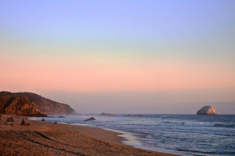 Beach at San Agustinillo, Oaxaca
