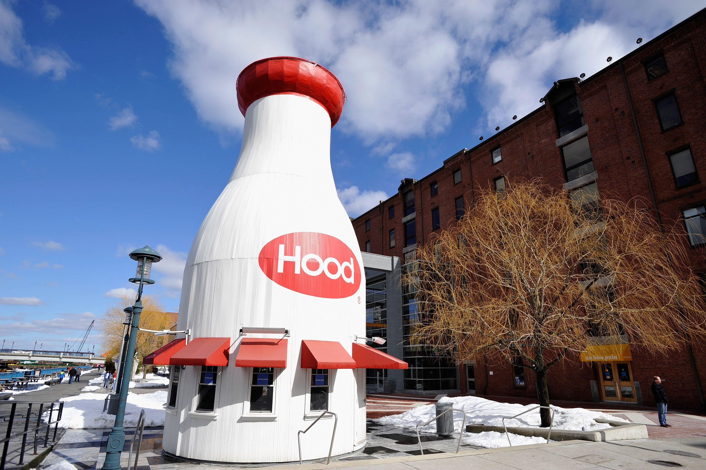 Hood Milk Bottle Kiosk