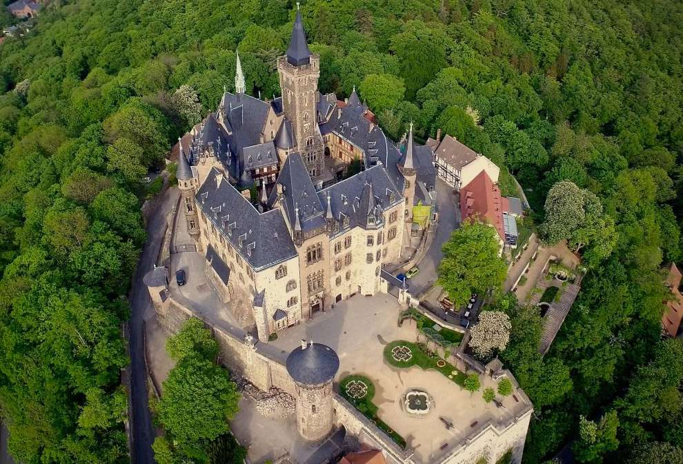 Wernigerode Castle features a foundation that dates back to the 12th century.