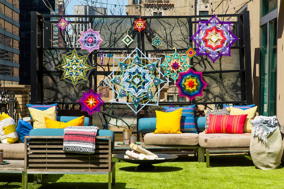 The W Hotel's outdoor glamping suite in New York City