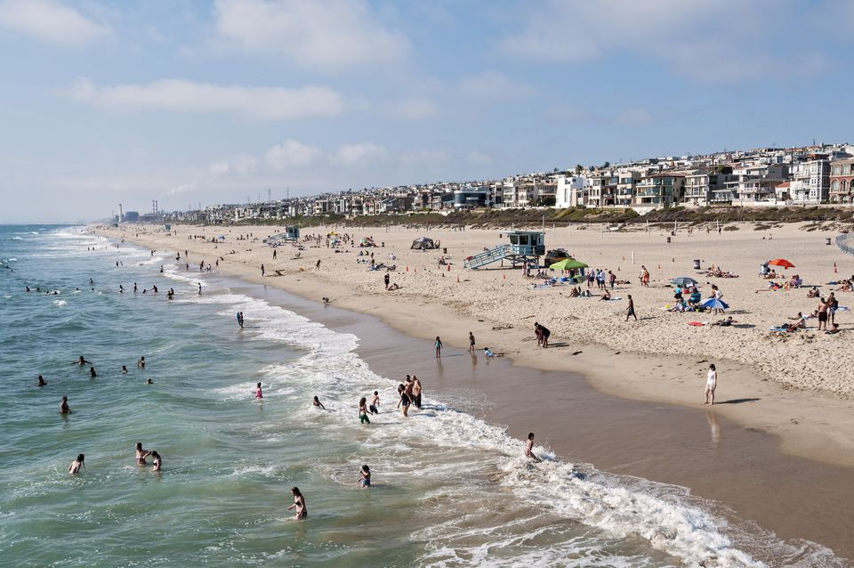 View north from Pier, Manhattan Beach California