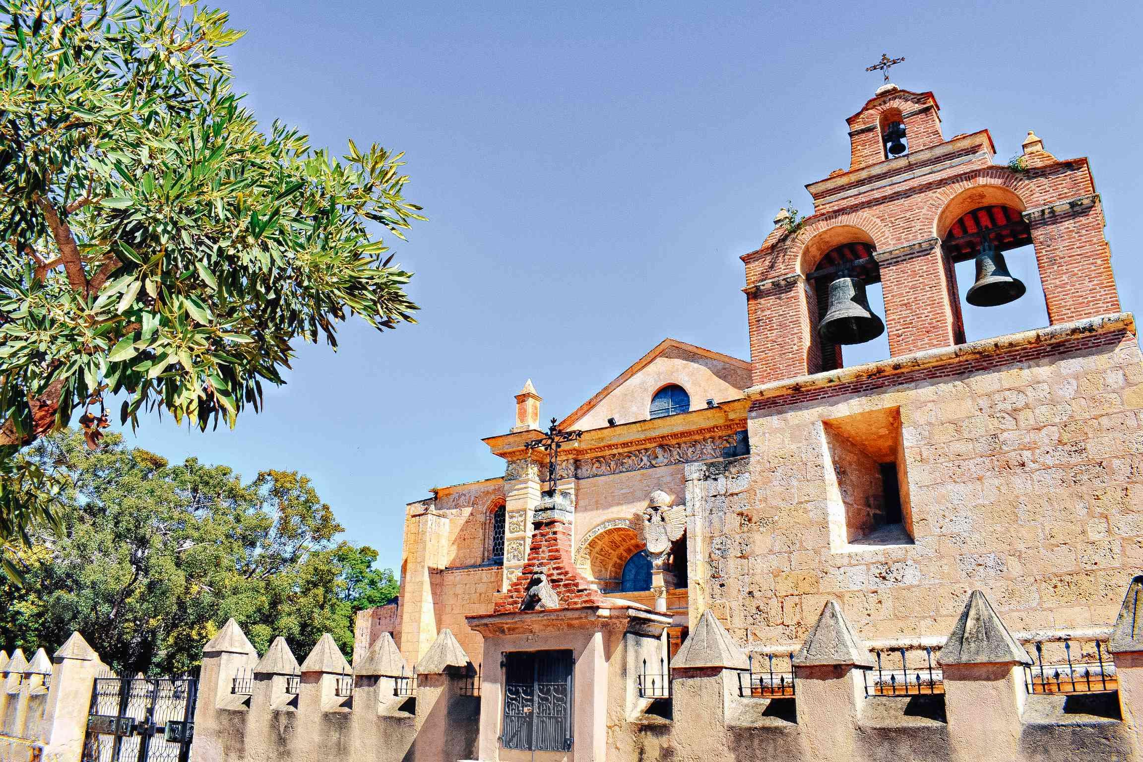 Colonial Architecture in Parque Colon in Santo Domingo