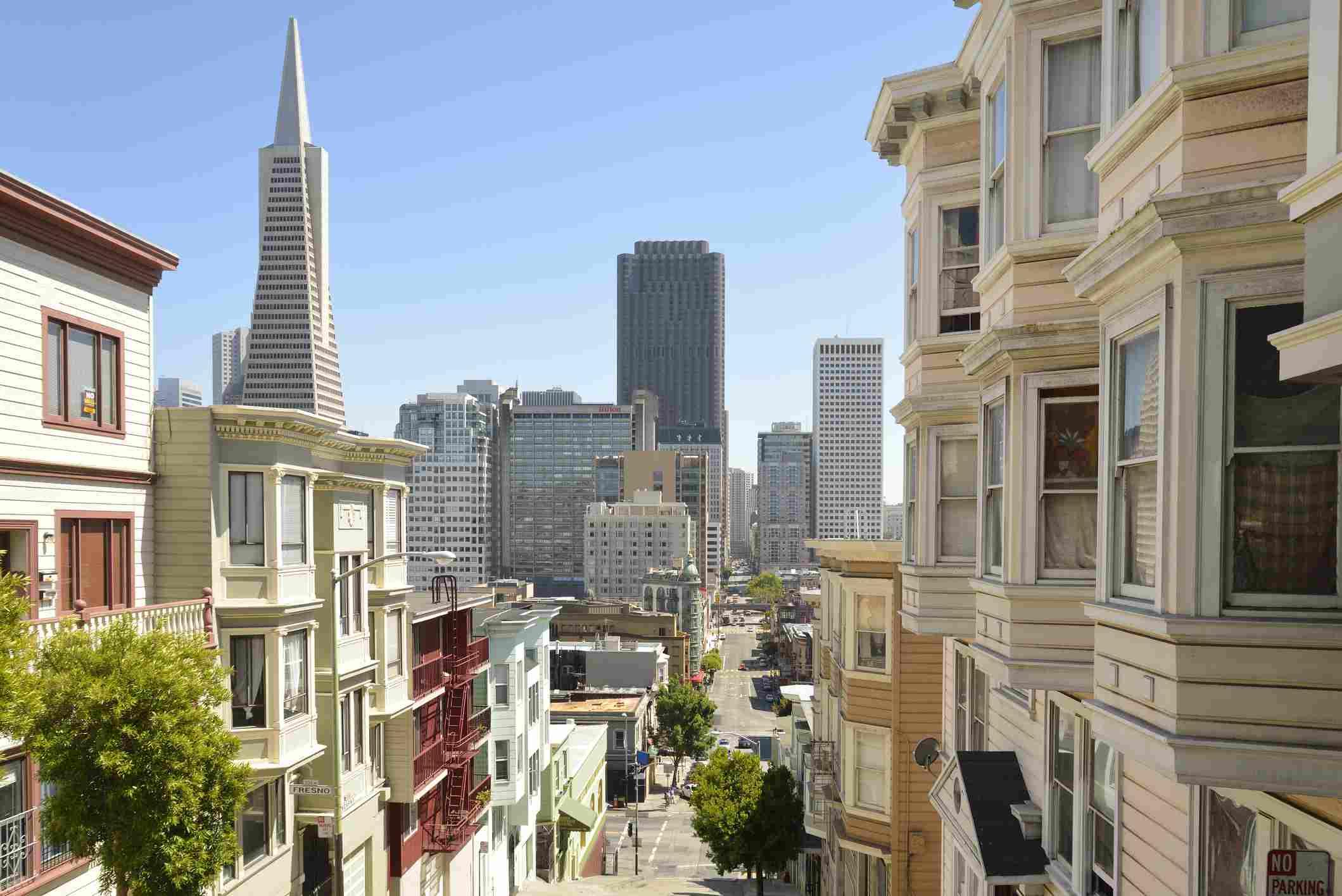 USA, California, San Francisco, Bay Area, View from North Beach