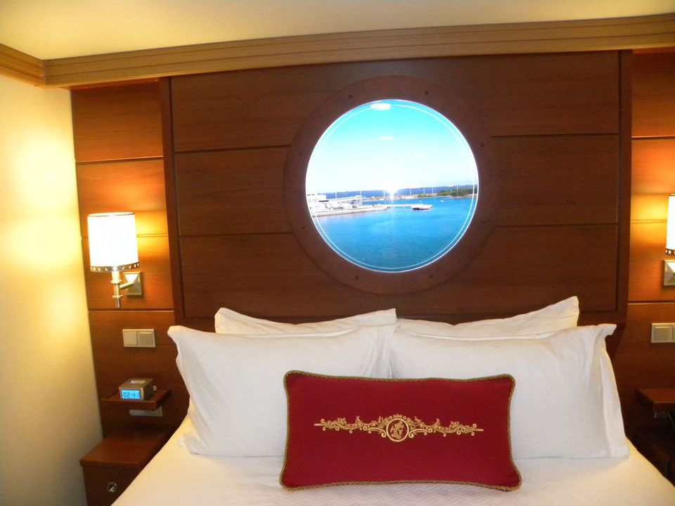 Disney Dream inside cabins with a video porthole