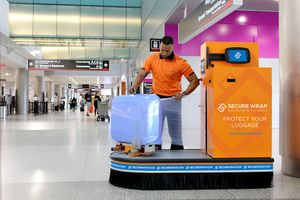 Secure Wrap station at Miami International Airport