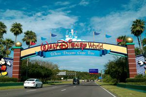 Main entrance to Walt Disney World Resort