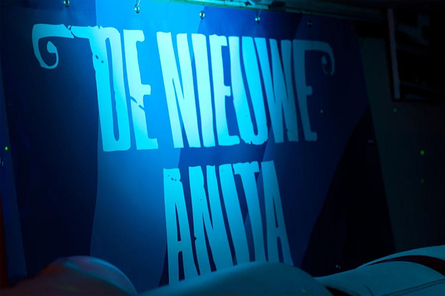 A sign for the music venue De Nieuwe Anita