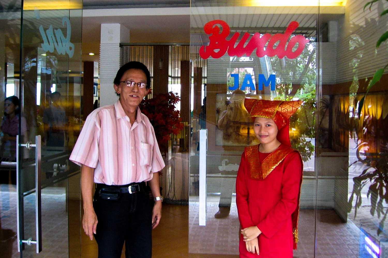 Padang restaurant proprietor and hostess
