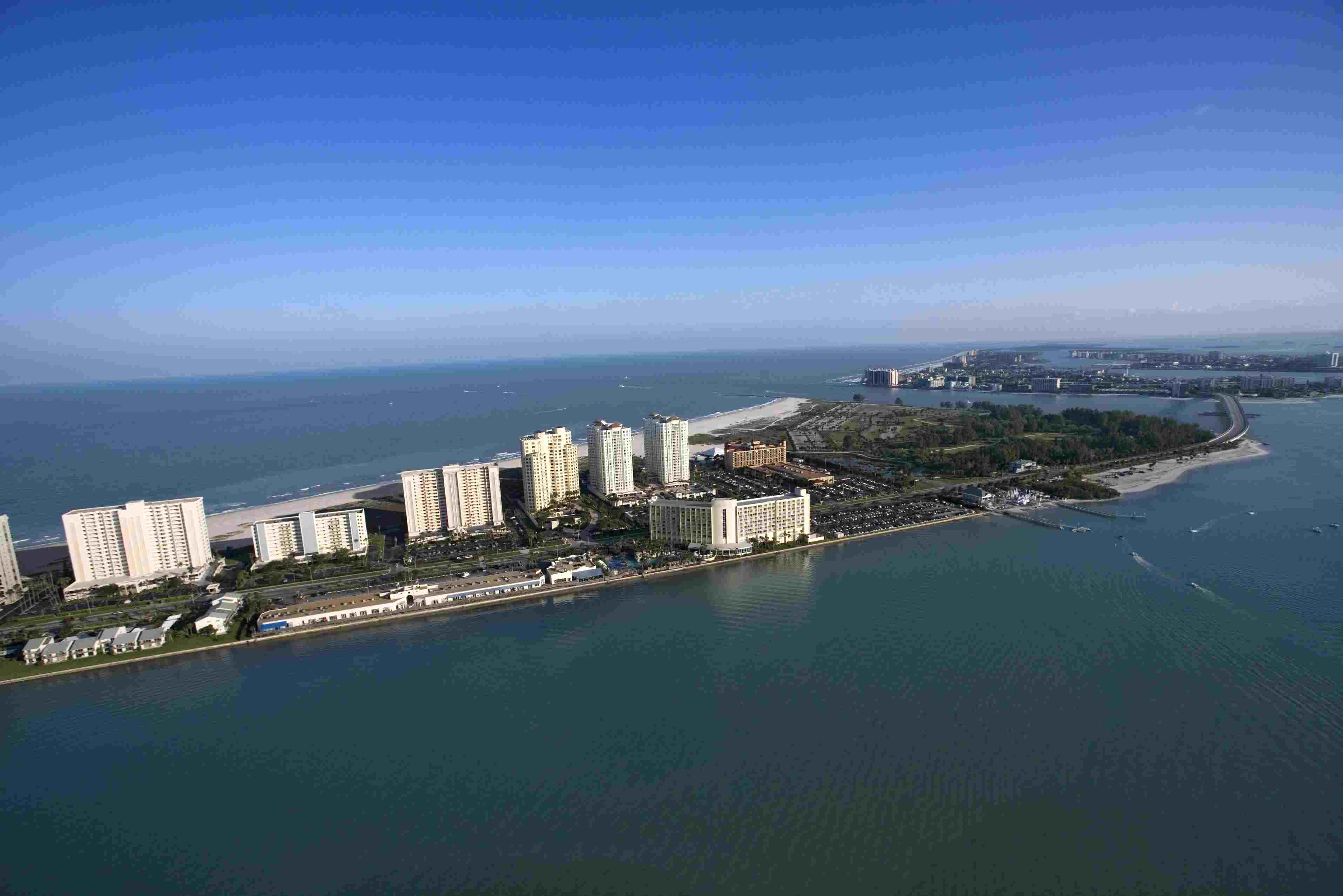 Aerial view of hotels of Clearwater, Florida