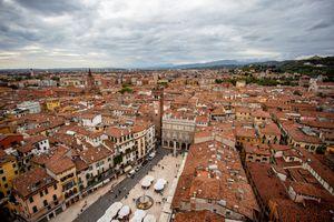 Piazza delle Erbe from above, Verona