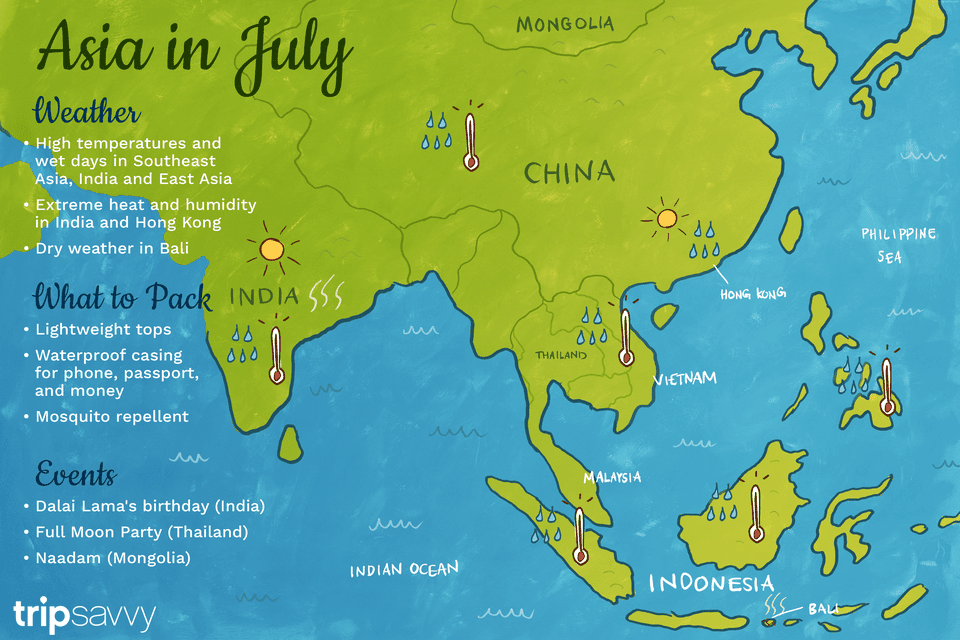 July In Asia Weather And Event Guide