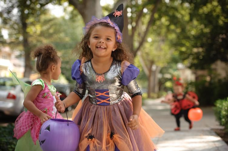 Trick-or-treating in midtown