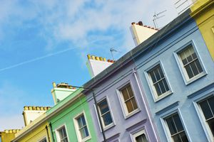 Colourful houses in a row, Notting Hill