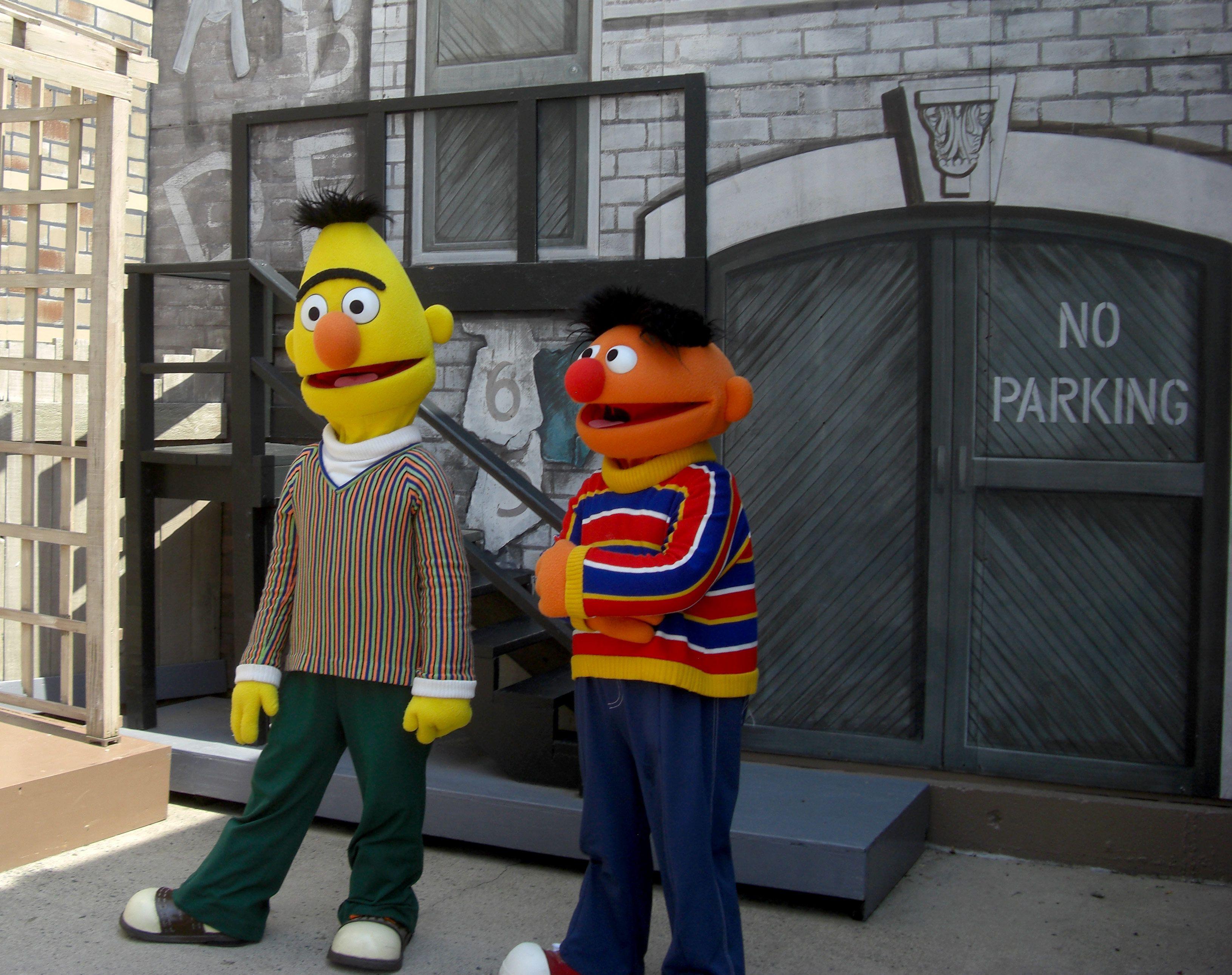 Bert y Ernie en Sesame Place