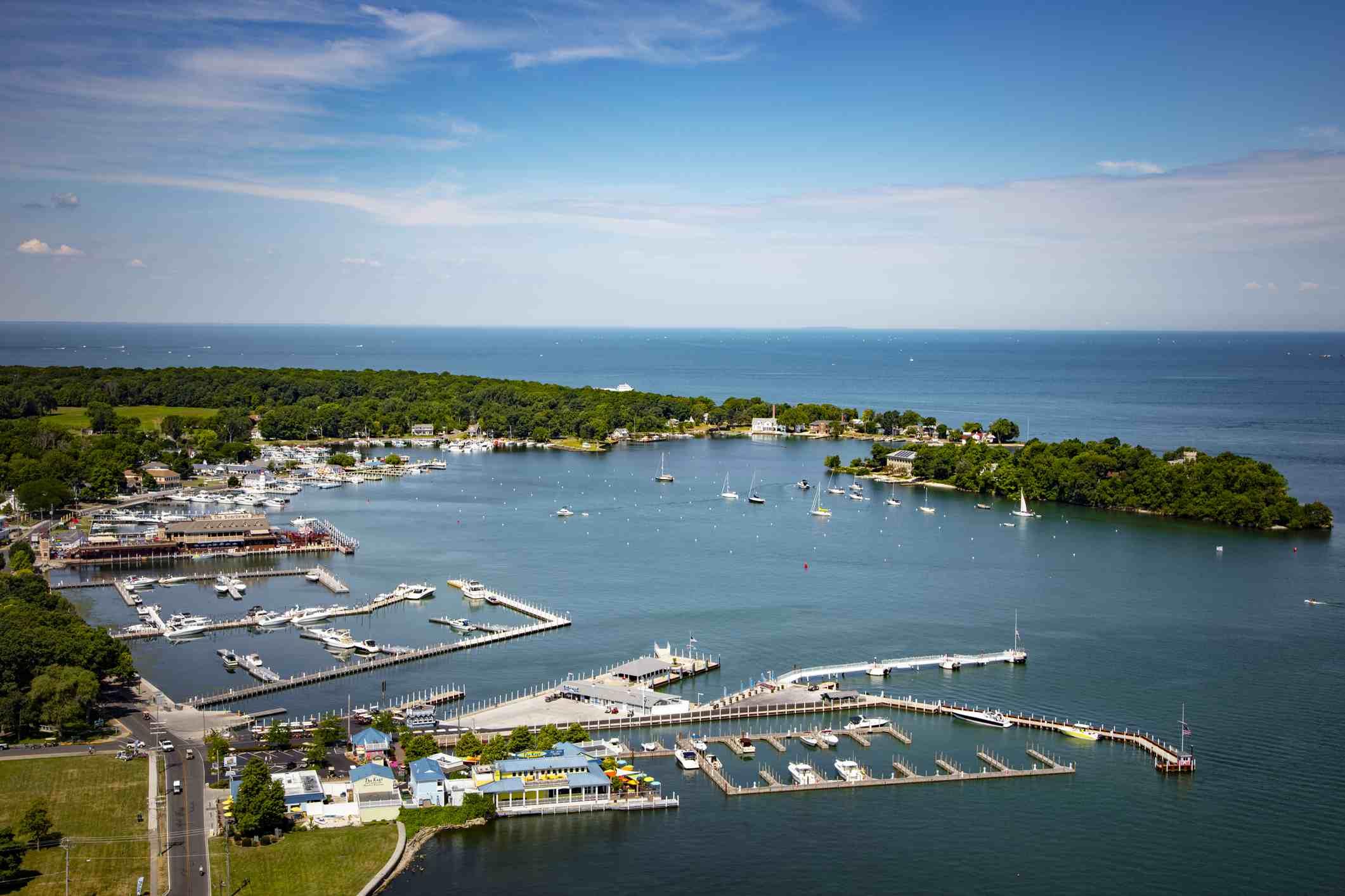 Put-in-Bay South Bass Island en el lago Erie