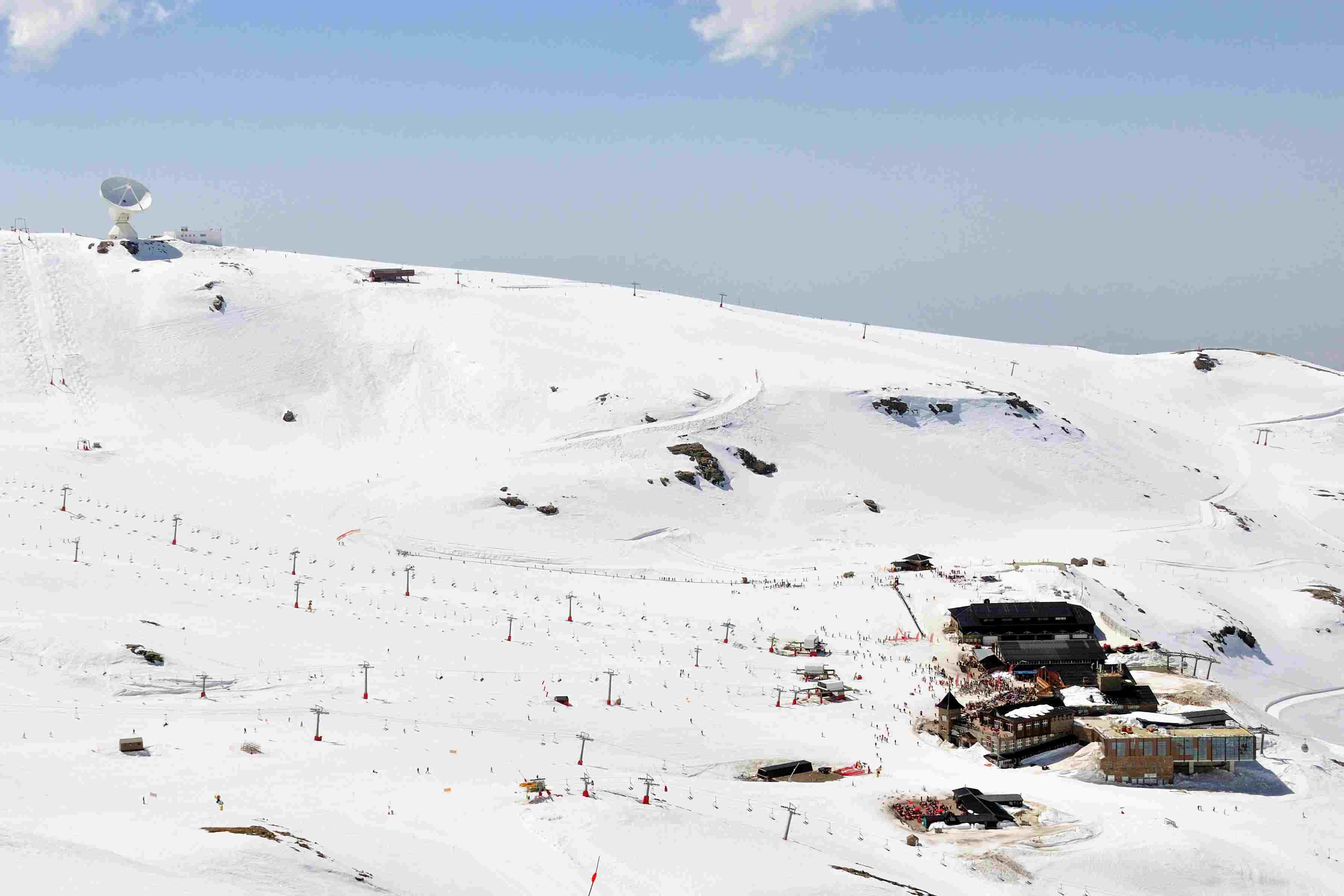 Skiing in the Sierra Nevada in Spain