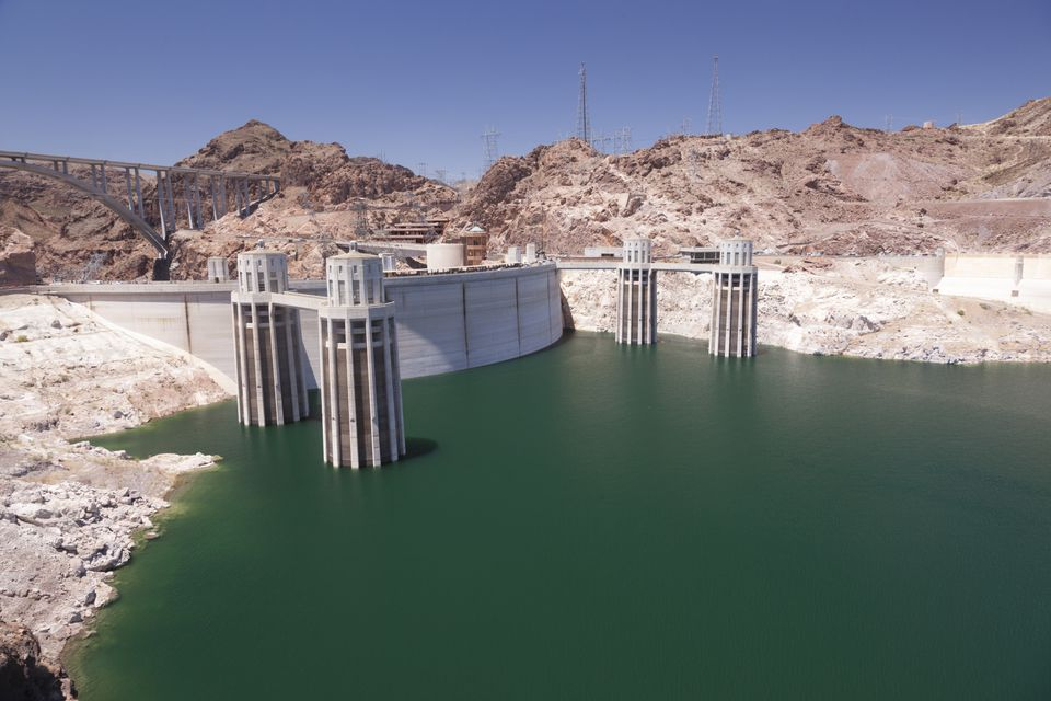 Lake Mead behind the Hoover Dam
