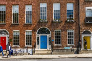 The colored doors near Merrion Square, Dublin