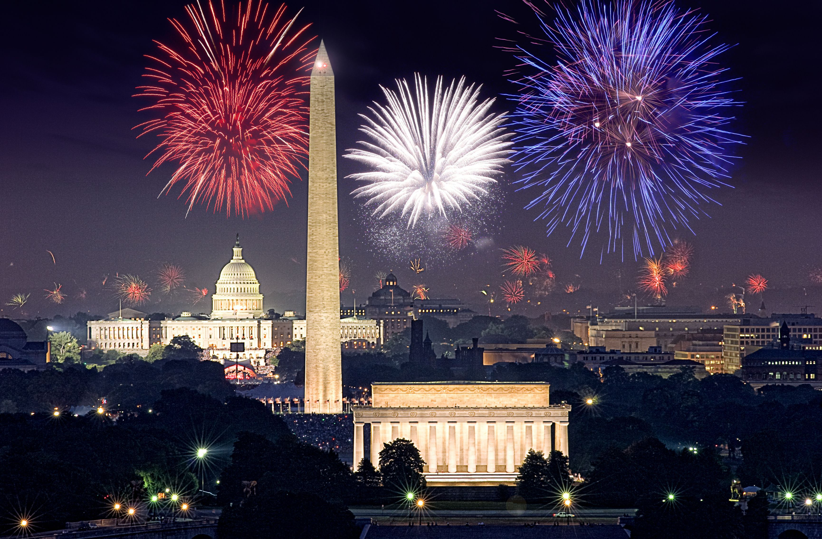 Fireworks in Washington, DC