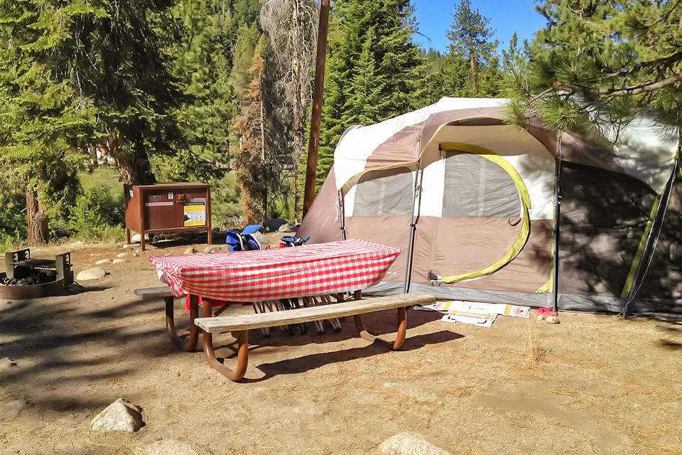 Campsite at Lodgepole Campground, Sequoia National Park