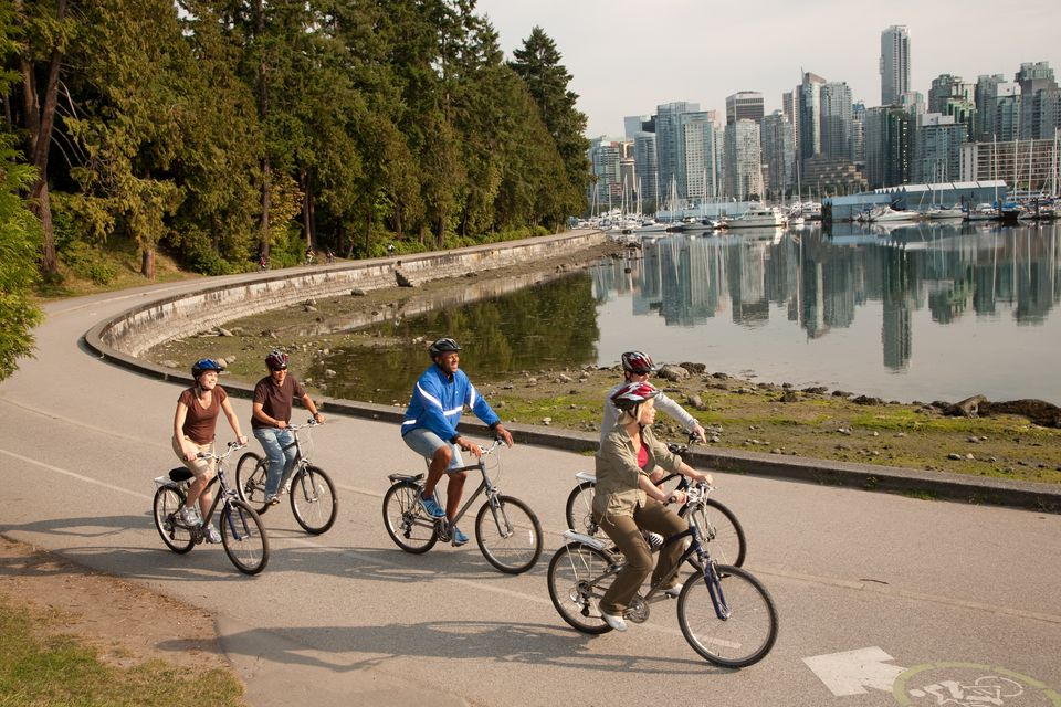 Biking the Stanley Park Seawall