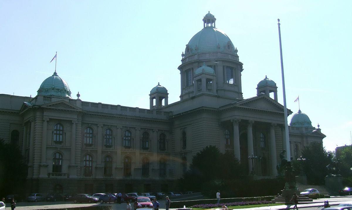 Belgrade Parliament in Belgrade, Serbia