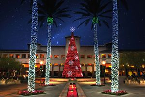 the Scottsdale Fairmont Princess decorated for Christmas