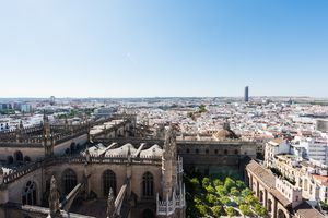 View of Seville from giralda tower on a clear day