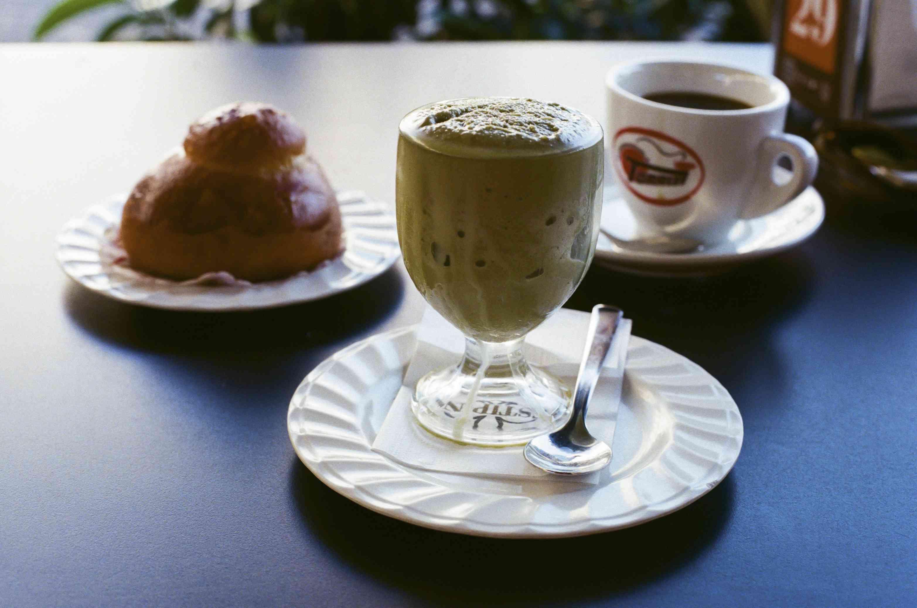 Brioche, granita and espresso