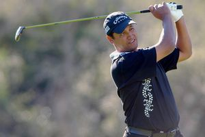Michael Campbell plays in the Target World Challenge golf tournament.