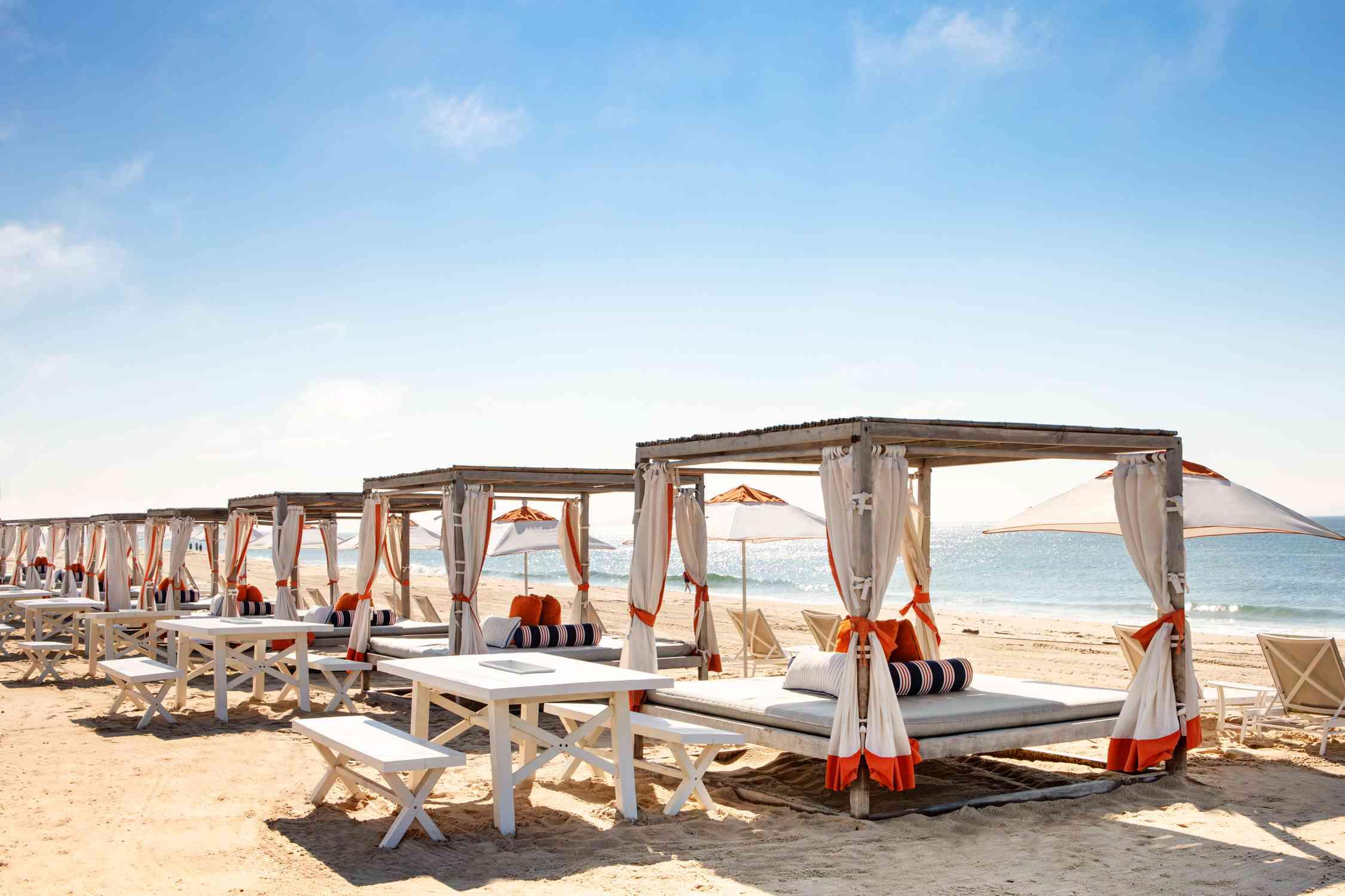 King-bed cabanas at Gurney's Montauk Seawater Resort & Spa