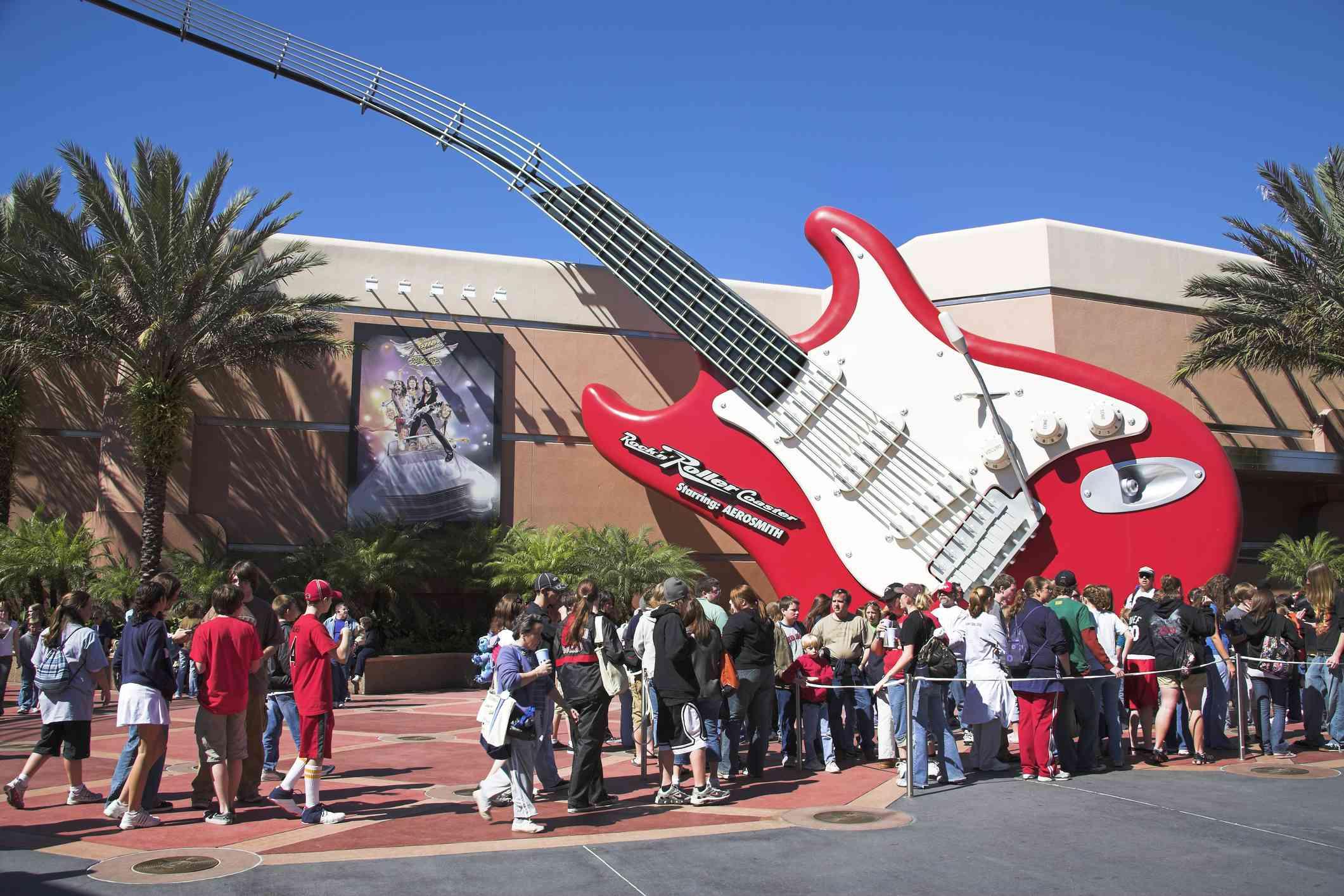 Rock n Roller Coaster sign in Orlando