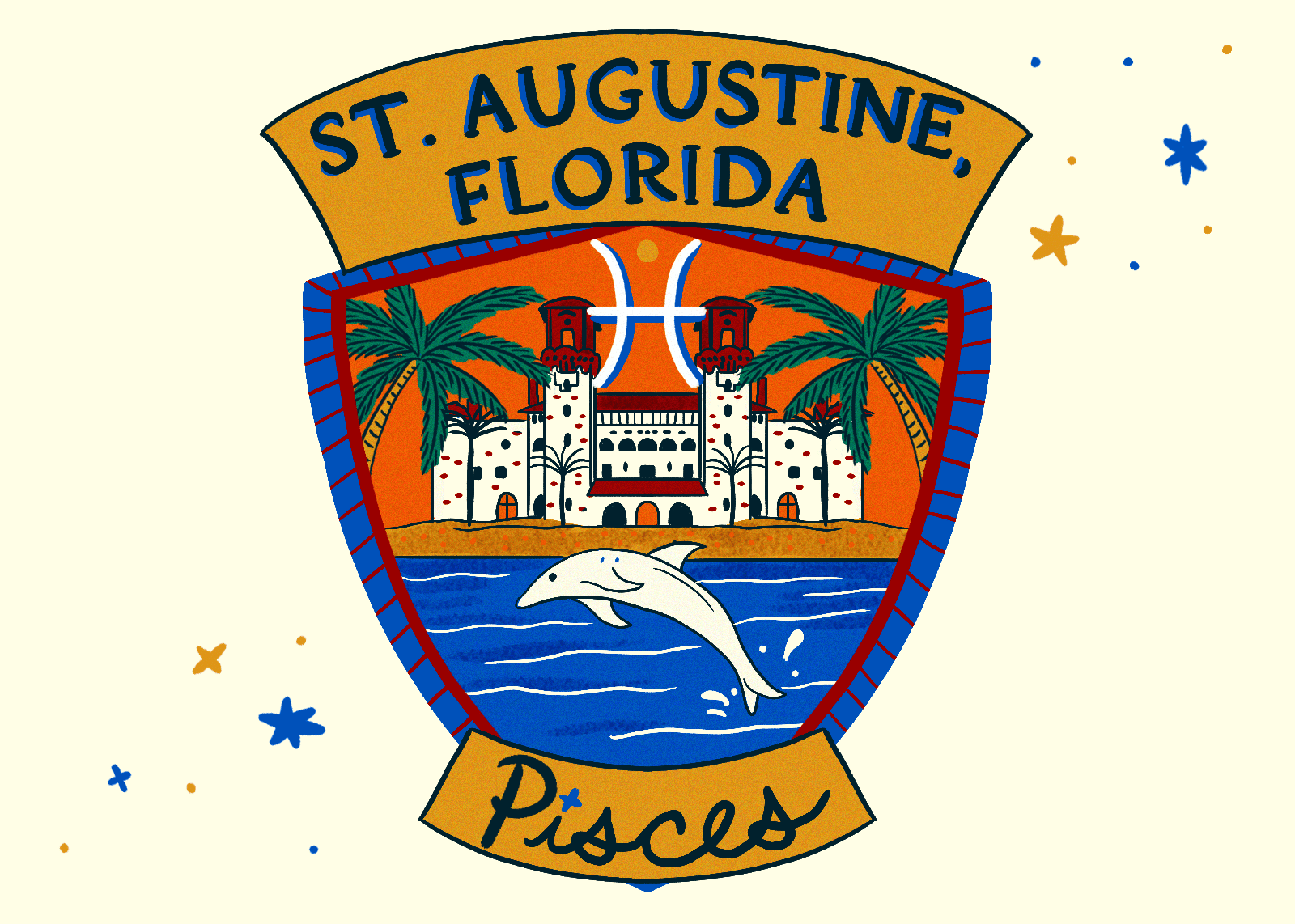 Illustration of St Augustine Florida