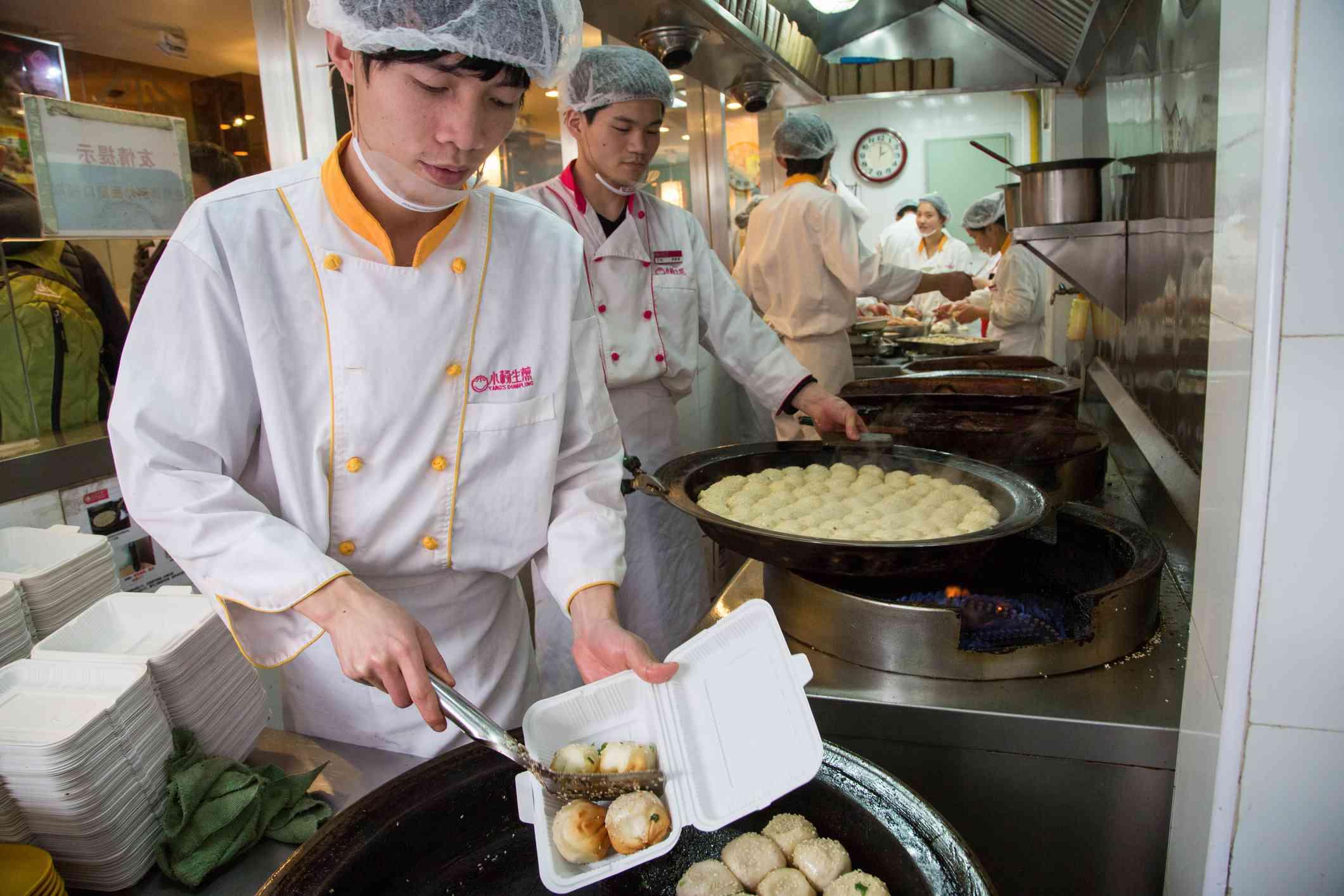 Chefs at Yang's Dumpling Restaurant