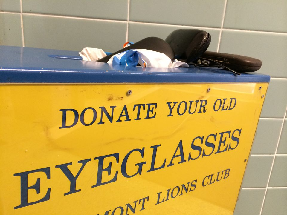 Lions Club eyeglasses donation bin