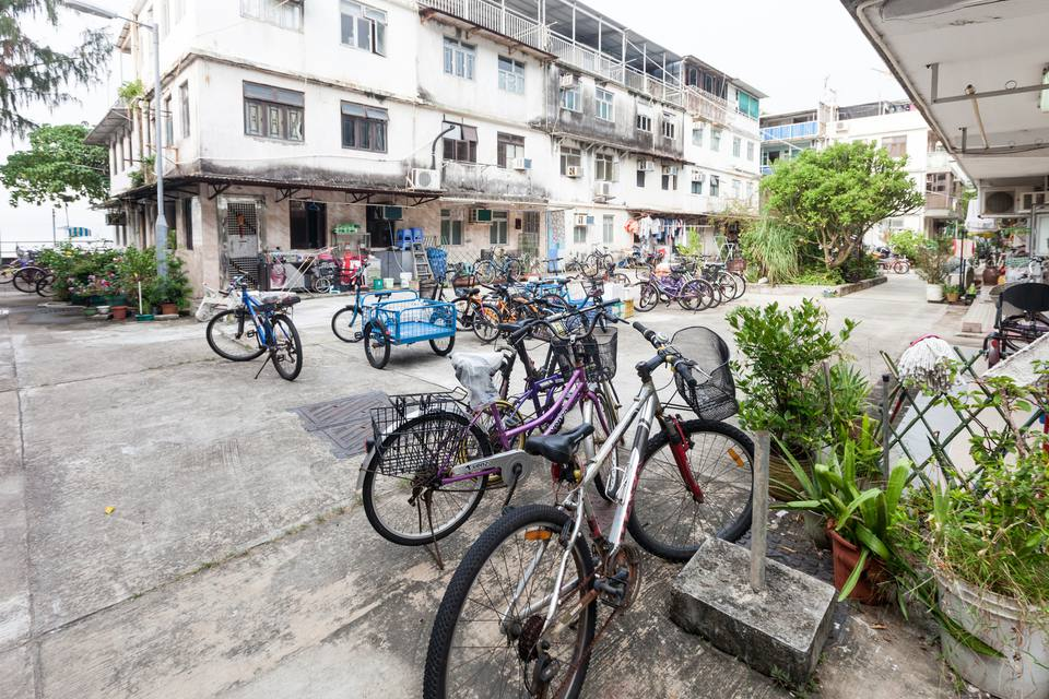 Bicycles in Peng Chau Island, Hong Kong