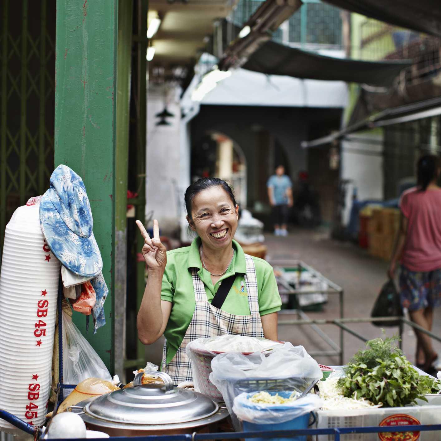 Woman in Thai market
