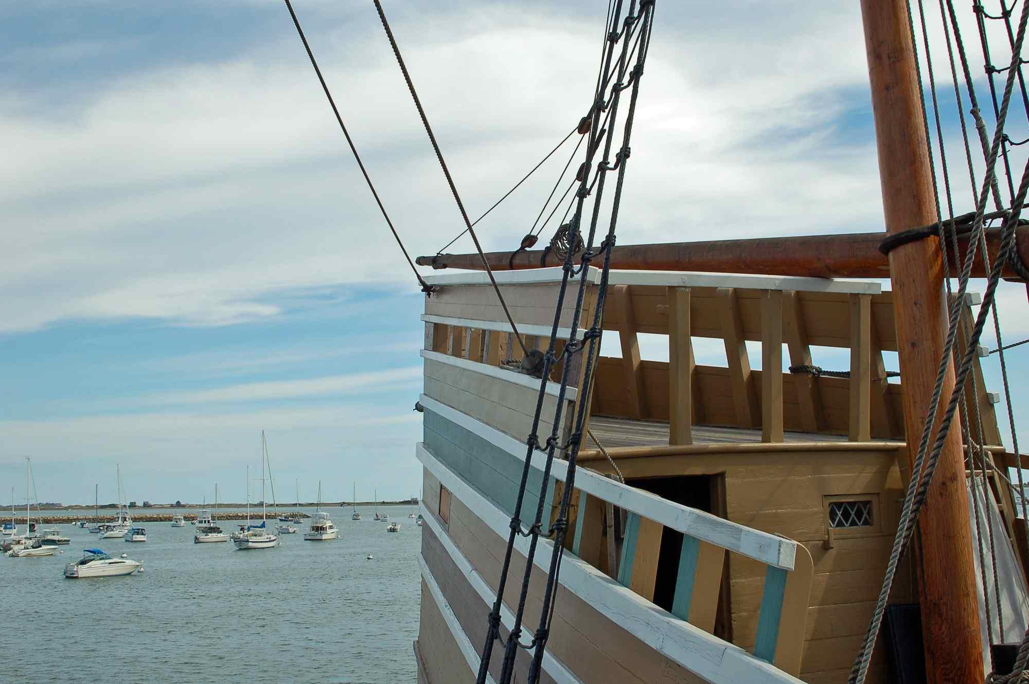 Mayflower II Attraction in Plymouth Massachusetts
