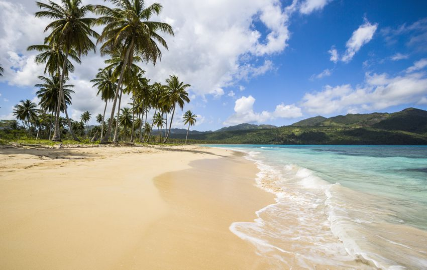 Samana Peninsula, view of Playa (beach) Rincon, DR