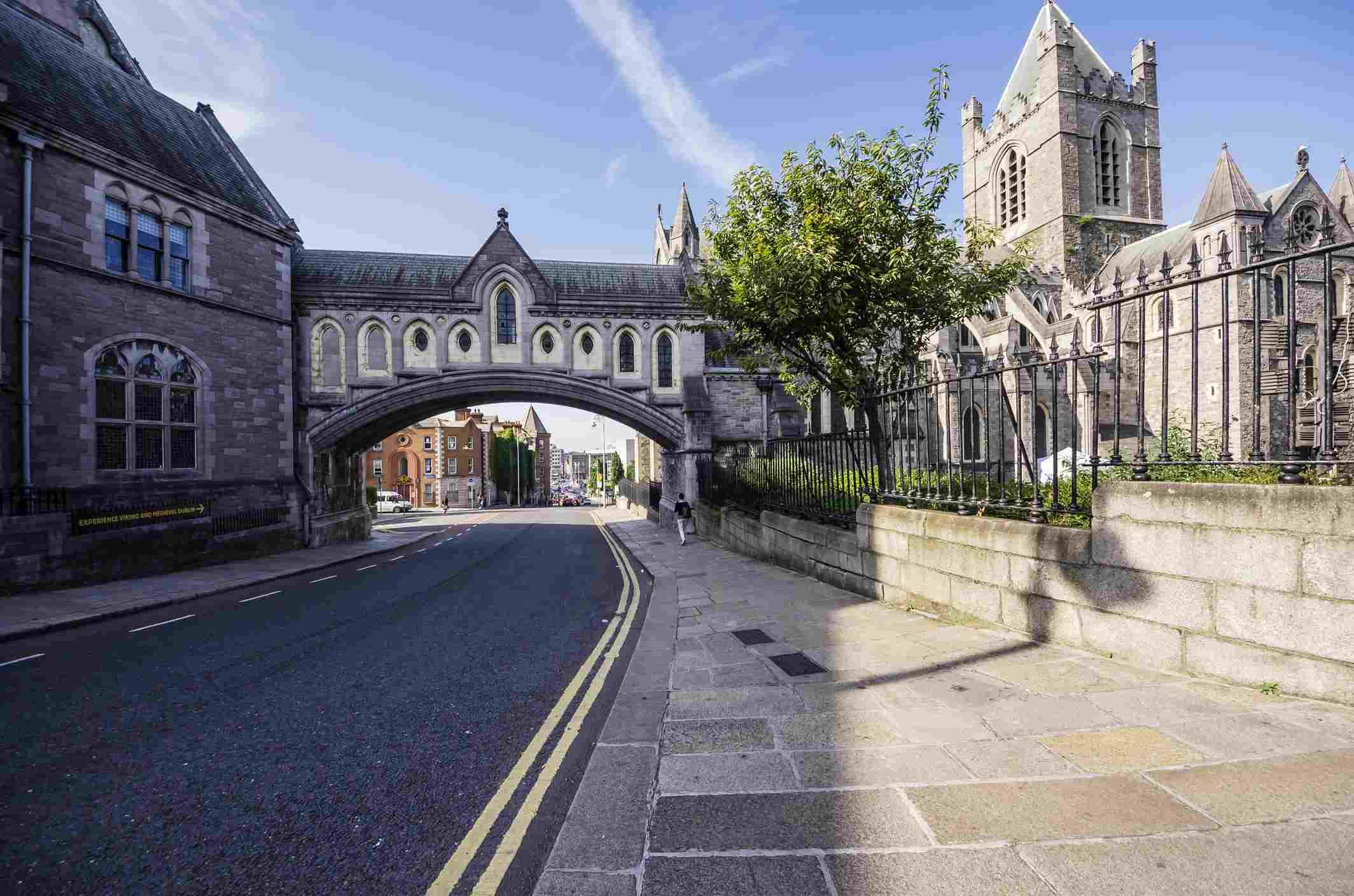 Ireland, County Dublin, Dublin, Dublinia, Wood Quay, Dublinia Museum and Christ Church Cathedral right
