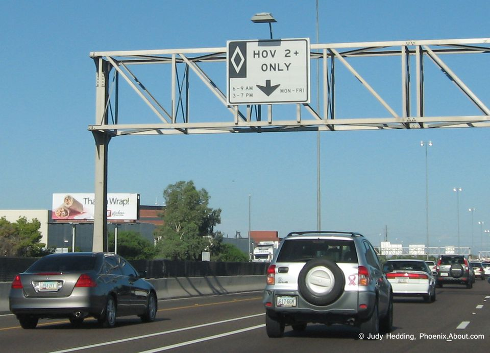 Carpool Lane Rules >> Arizona Hov Lanes Rules And Restrictions