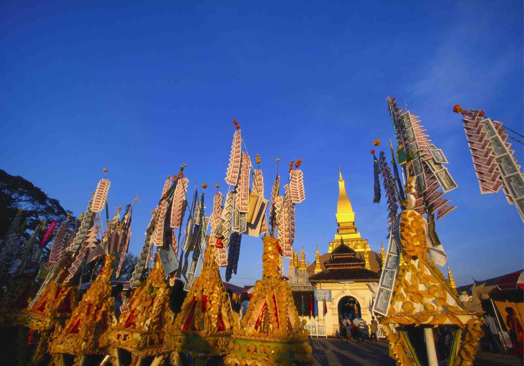 Celebrating Khao Pansa on That Luang, Vientiane