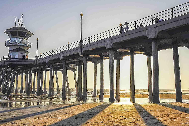 Huntington Pier at Sunset