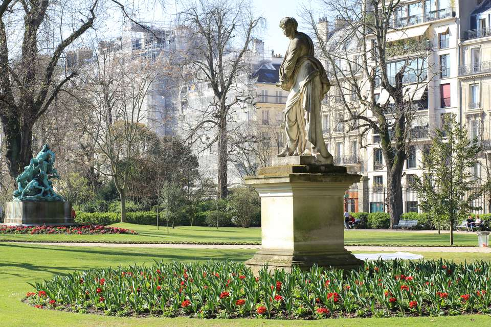 Jardin du Luxembourg. Luxembourg Garden. Paris. 16th March 2017