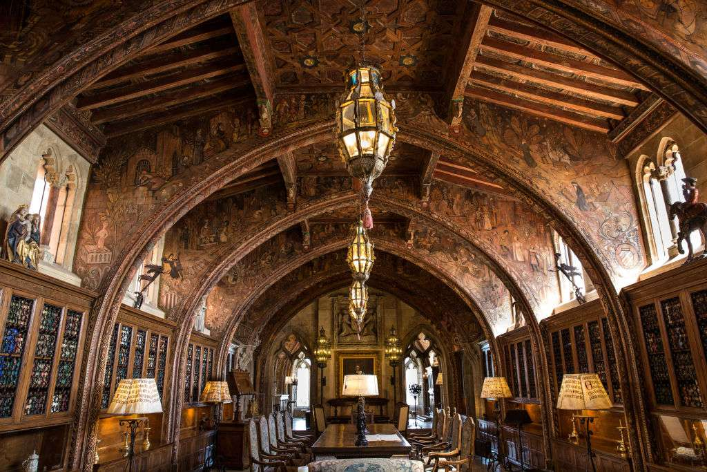 Hearst Castle's Ornate sixth floor library