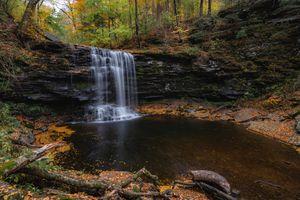 Waterfall at Rickets Glen State Park, PA