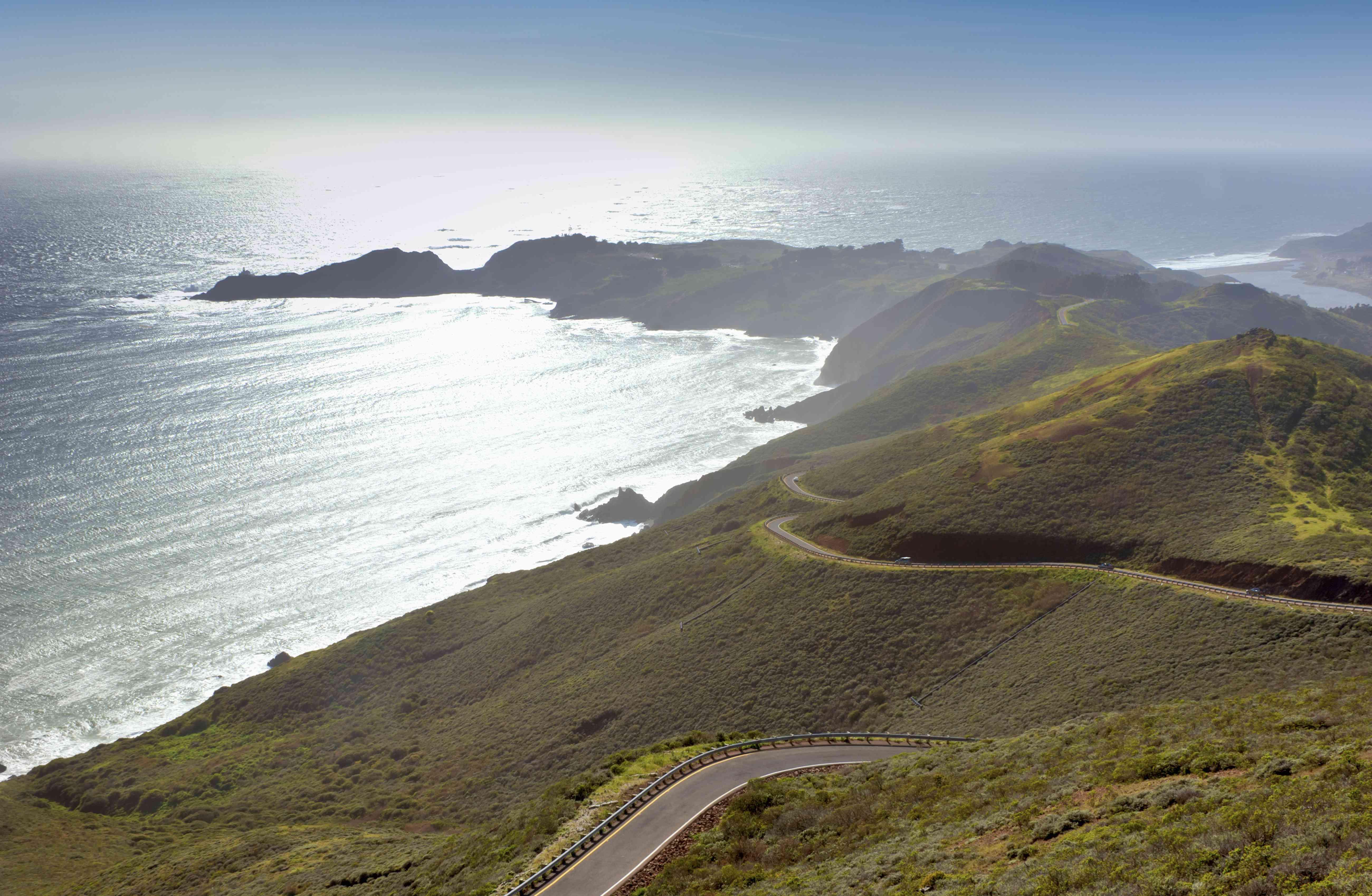 Vista de Marin Headlands y Océano Pacífico