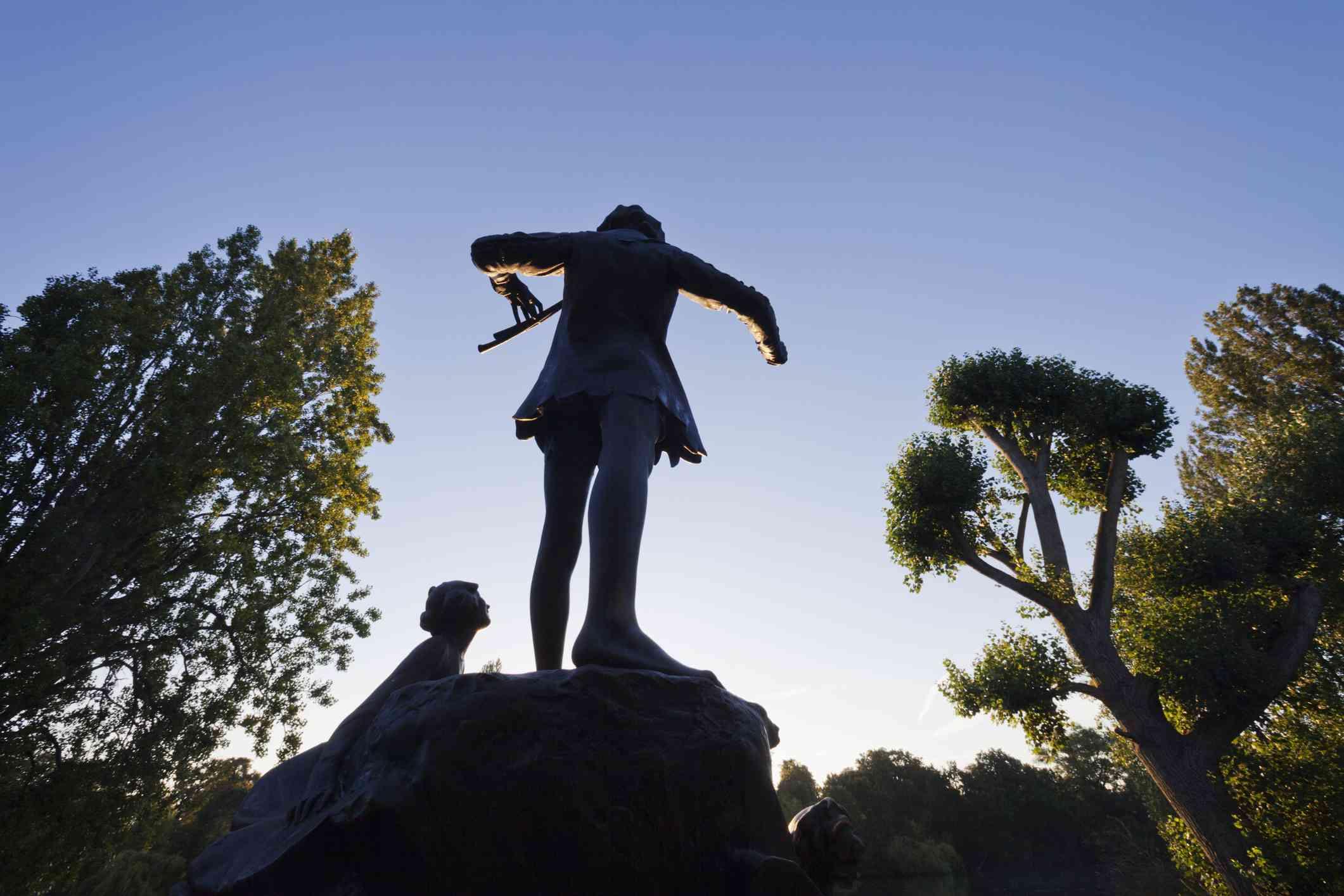 England,London,Hyde Park,Kensington Gardens,Peter Pan Statue