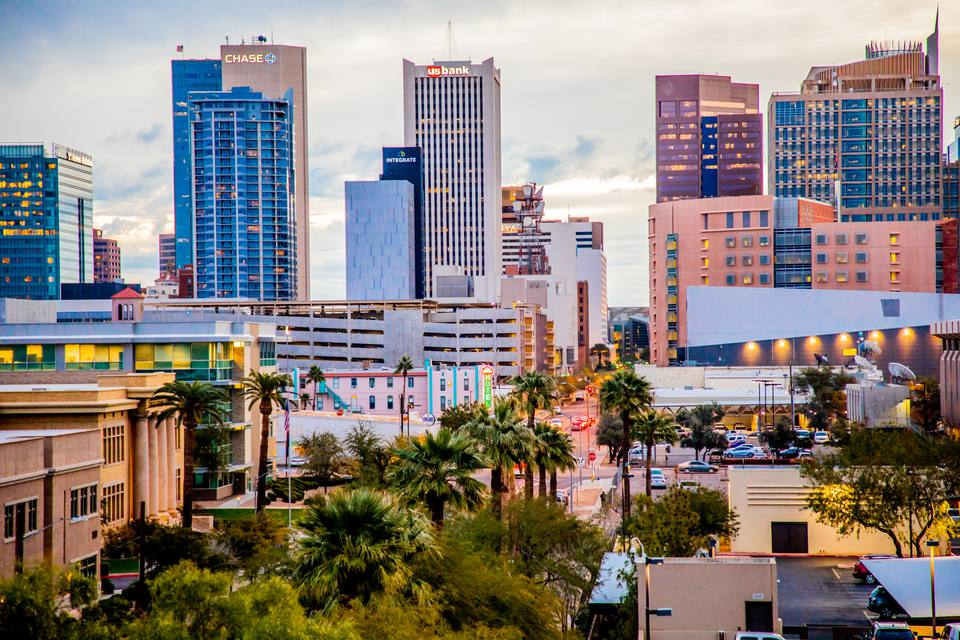 Skyline view of downtown Phoenix