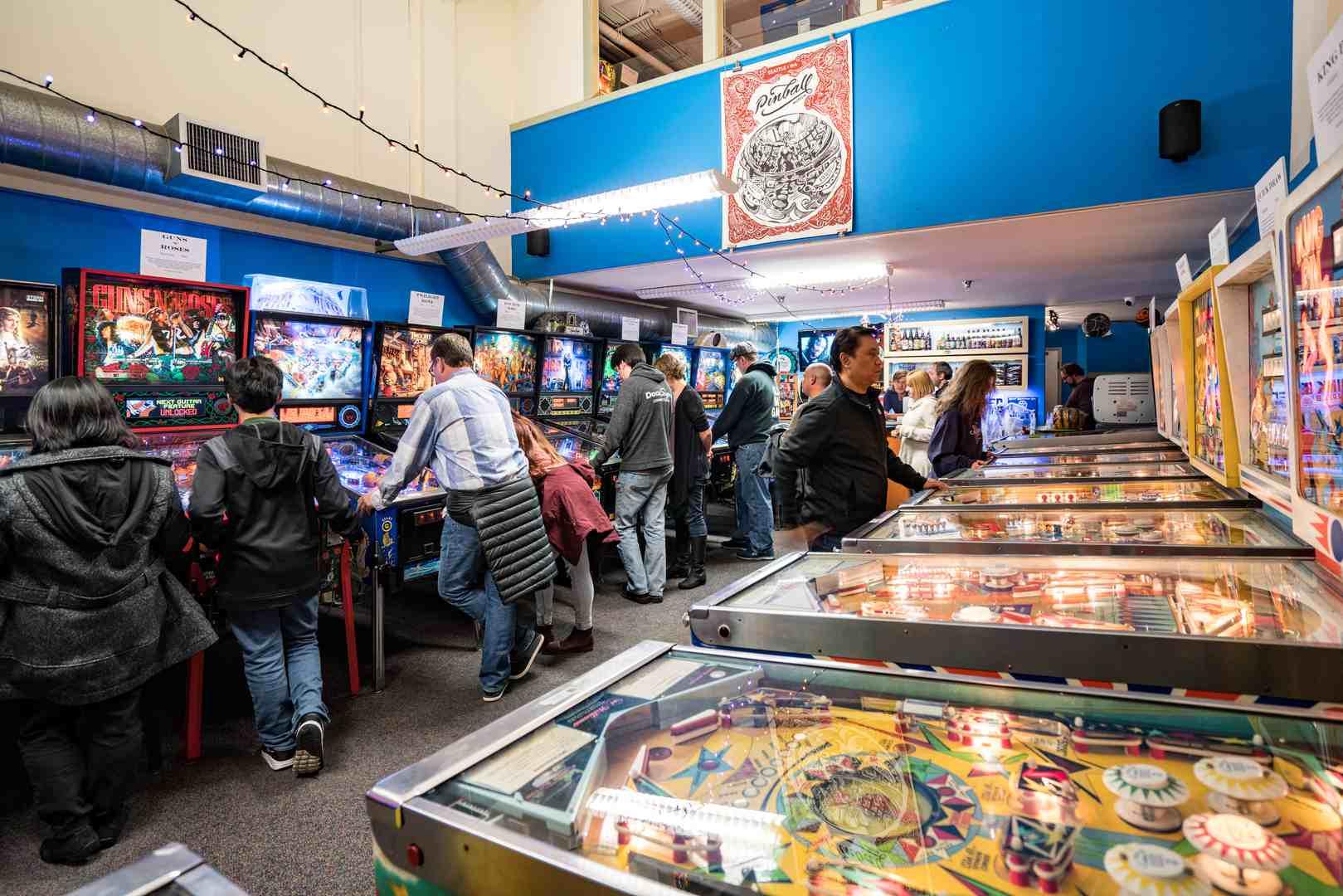 Interior of the Seattle Pinball Machine